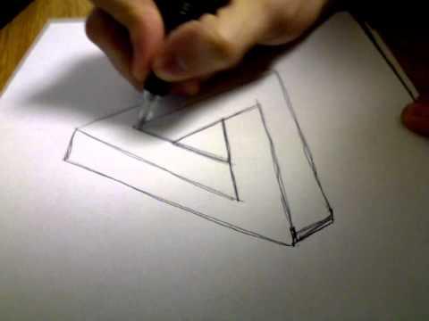Zeichnen einer optischen Täuschung
