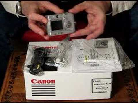 eBay auction Canon A520 digital camera