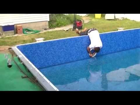 Pool Liner Replacement Part 4 - Installing Skimmers, Light, Jets, and Steps Coping