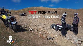 8. Drop testing on the TET | Offroad with Suzuki V-Strom 1000 XT Honda Africa Twin KTM 1190 Adventure R