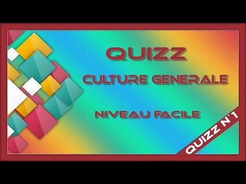 Quizz culture générale n°1 (niveau facile)