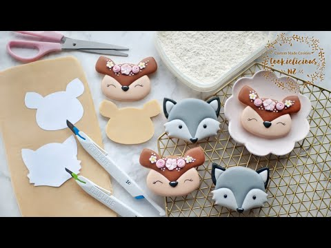 How to HANDCUT COOKIES ~ And how to Decorate DEER & WOLF cookies