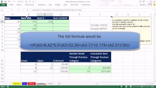 Mr Excel&excelisfun Trick 136: Variable Rent Calculation Based On Days: VBA, IF Or VLOOKUP?