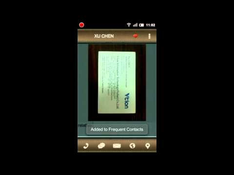 Video of ScanCard Free Trial Version
