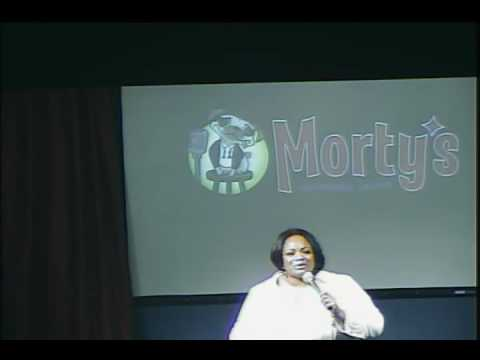 Comedian Ms. Pat at Morty's Comedy Joint