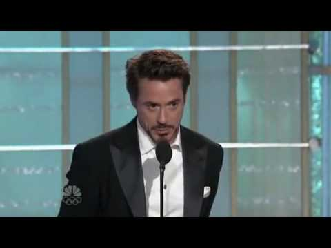 Robert Downey Jr.-Golden Globe Awards-best actor (видео)