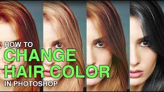 Photoshop ile Saç Rengi Değiştirme