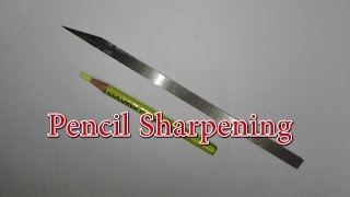 Pencil sharpening by handmade knife no.2