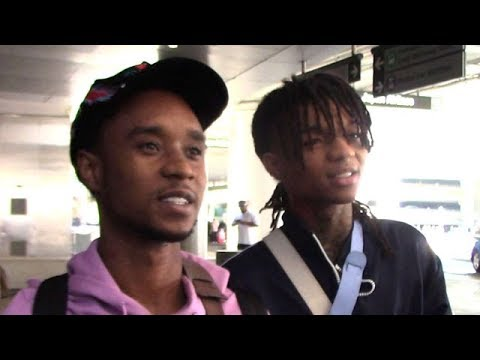 Rae Sremmurd Duo Slim Jxmmy And Swae Lee At LAX