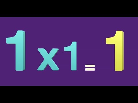 Table of 1 | Learn Multiplication of X1 | 1 Times Table | 1X1