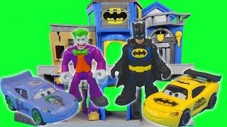 Batman dreams of the Joker moving in downstairs! Robin Disney Cars Batcar Lightning McQueen
