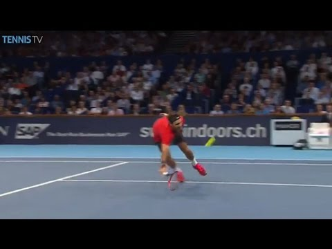 At - Roger Federer shows some magic at the net against Ivo Karlovic in Basel. Watch live matches at http://www.tennistv.com/