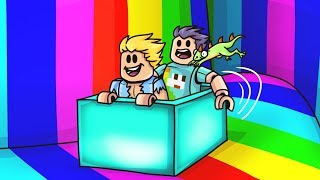 SLIDING Down The BIGGEST RAINBOW In ROBLOX!