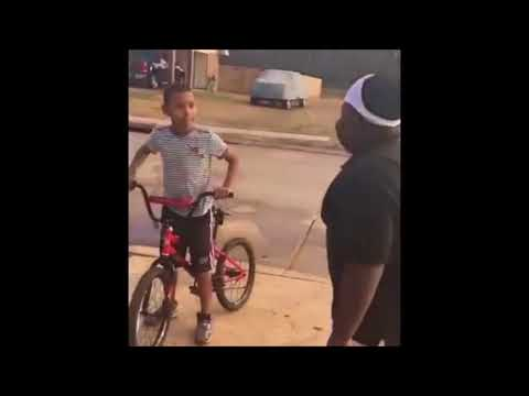 2 kids arguing about bicycle and sandwiches - FUNNY