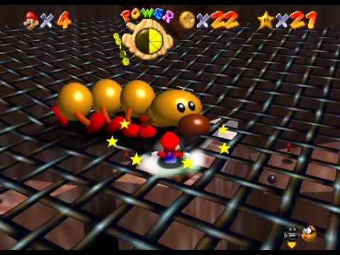 Guy finishes a level on Super Mario 64 without using the joystick.