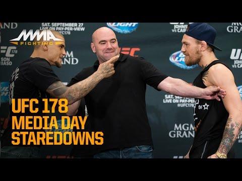 UFC 178 Media Day Staredowns