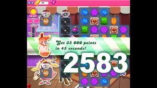 Candy Crush Saga Level 2583 ! (First Version) No Cheat ! No boosters ! Playlist : https://www.youtube.com/user/Kazuohk/videos
