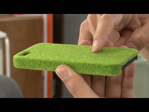 Diginfonews - Shibaful, designed by Ag Ltd., is an iPhone case that reproduces the look and texture of lawn. The grass is based on Yoyogi Park in Tokyo, with two other int...