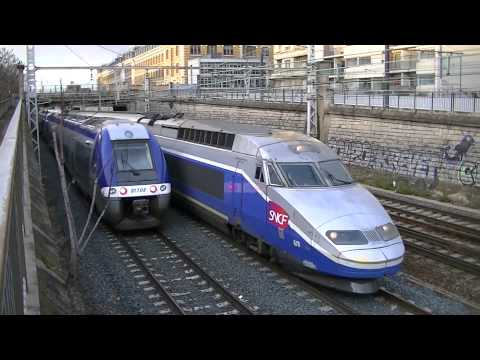 1 train TGV OUIGO Dasye 760+3 BB75000 fret+12 trains TER+8 trains TGV à Lyon