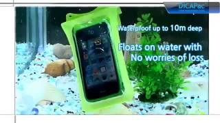 DiCAPac waterproof case for smartphone & iPhone