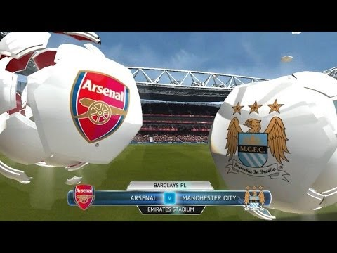FIFA 14 Gameplay Prediction Arsenal Vs Manchester City