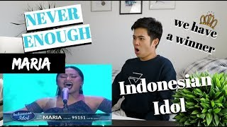 "Video MARIA - ""NEVER ENOUGH"" (Indonesian Idol 2018) AMAZING PERFORMANCE 