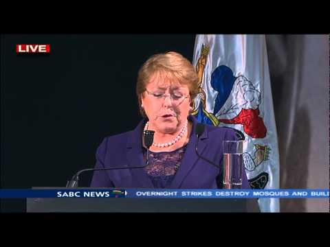 President Bachelet delivers the 12th Mandela Lecture