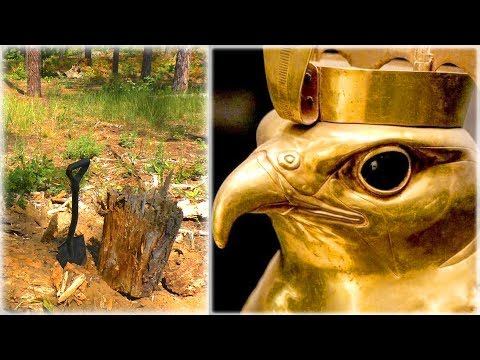 GOLD treasure! TWO MYSTERIOUS GOLD STATUES FOUND! EARNINGS ON GOLD FROM WHICH HANDS SHAKED!