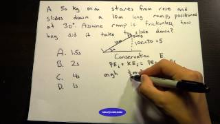 MCAT Question Of The Day 15 Kinematics Conservation Of Energy