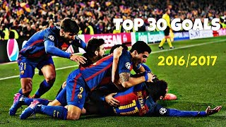 """The best 30 goals scored by Barca in season 2016/17. Enjoy them! THE GOALS ARE LISTED IN RANDOM ORDER! ----------------------------------------------------------------------------------------------STAY UPDATE! LIKE, SUBSCRIBE AND SHARE!Video Created by: FCB10HD / Juraj GaziSoftware used: Sony Vegas Pro 13If you like my videos don't forget to follow me on this links: • FACEBOOK: http://on.fb.me/1PcwJJj• TWITTER: https://twitter.com/FCBC10• INSTAGRAM: https://www.instagram.com/fcb10hd_footballeditor/• DONATE: https://www.paypal.com/cgi-bin/webscr?cmd=_s-xclick&hosted_button_id=4FN5686MKXDAL----------------------------------------------------------------------------------------------SOUNDTRACK:THANKS FOR WATCHING! If you're looking for more motivational videos, goals & skills, promos, trailers, mini-films and edits don't forget to subscribe to my channel. FCB10HD - 2K17""""Copyright Disclaimer Under Section 107 of the Copyright Act 1976, allowance is made for """"fair use"""" for purposes such as criticism, comment, news reporting, teaching, scholarship, and research. Fair use is a use permitted by copyright statute that might otherwise be infringing. Non-profit, educational or personal use tips the balance in favor of fair use.""""----------------------------------------------------------------------------------------------IGNORE TAGS:FC Barcelona, Marc-André ter Stegen, Jasper Cillessen, Jordi Masip, Gerard Piqué, Javier Mascherano, Jérémy Mathieu, Samuel Umtiti (new signing), Lucas Digne (new signing), Jordi Alba, Alex Vidal, Douglas (loaned-out), Sergio Busquets, Sergi Samper (loaned-out), Andrés Iniesta, Ivan Rakitic, Arda Turan, Rafinha, Sergi Roberto, André Gomes, Denis Suarez, Neymar, Lionel Messi, Luis Suárez, Paco AlcacerLionel Messi ● 10 Virtually Impossible Goals ► Not Even Possible on PlayStation ! HDLionel Messi ► 2016 - The King ● Dribbling Skills, Goals HDLionel Messi ● Overall 2016 ● HDLionel Messi ● Overall 2015 ● HDLionel Messi ● Ultimate Messiah Skills 2015-201"""