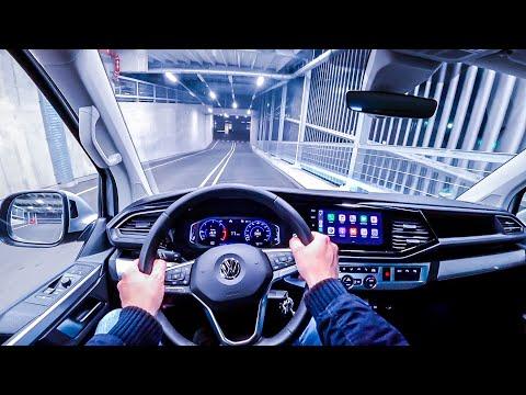 2020 Volkswagen T6.1 Multivan 150HP NIGHT POV DRIVE ONBOARD