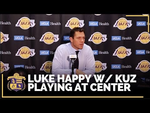 Video: Lakers Post Game: Luke Happy With Kyle Kuzma's Play at the Center Position