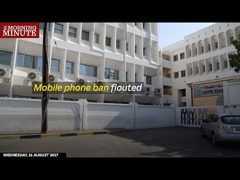 Despite a ban, some Indian school students are still bringing mobile phones to school.