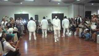 Jabbawockeez performance on September 6, 2014 at the Las Vegas Paiutte Golf Course. Featuring Joe Larot's solo for his new bride, Sofia. Thanks Joyce for getting a good view on my camera.