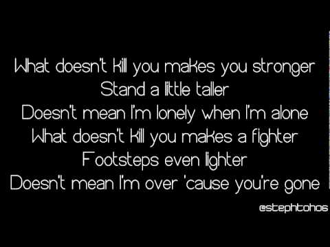 ★ LYRICS | Kelly Clarkson - What Doesn't Kill You (Stronger) ★