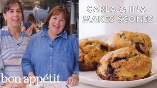 Video Carla and Ina Garten Make Chocolate-Pecan Scones | From the Test Kitchen | Bon Appétit MP3, 3GP, MP4, WEBM, AVI, FLV Juli 2019