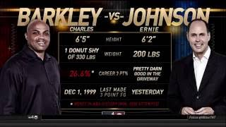 Find out the winner of the epic three point contest between TNT's Ernie Johnson and Charles Barkley.