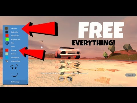 Jailbreak| HOW TO GET EVERYTHING FOR FREE IN THE GARAGE| Roblox