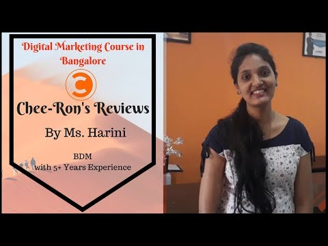 Digital Marketing Courses In Bangalore | Cheerons Review by Harini