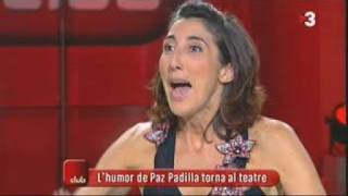L'actriu Paz Padilla fa gala del seu català.