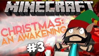 Minecraft - Christmas : An Awakening - Ep 3 - Trying To Swim In Lava