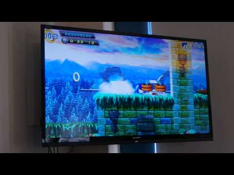 Nvidia Shield playing Sonic 4 on TV