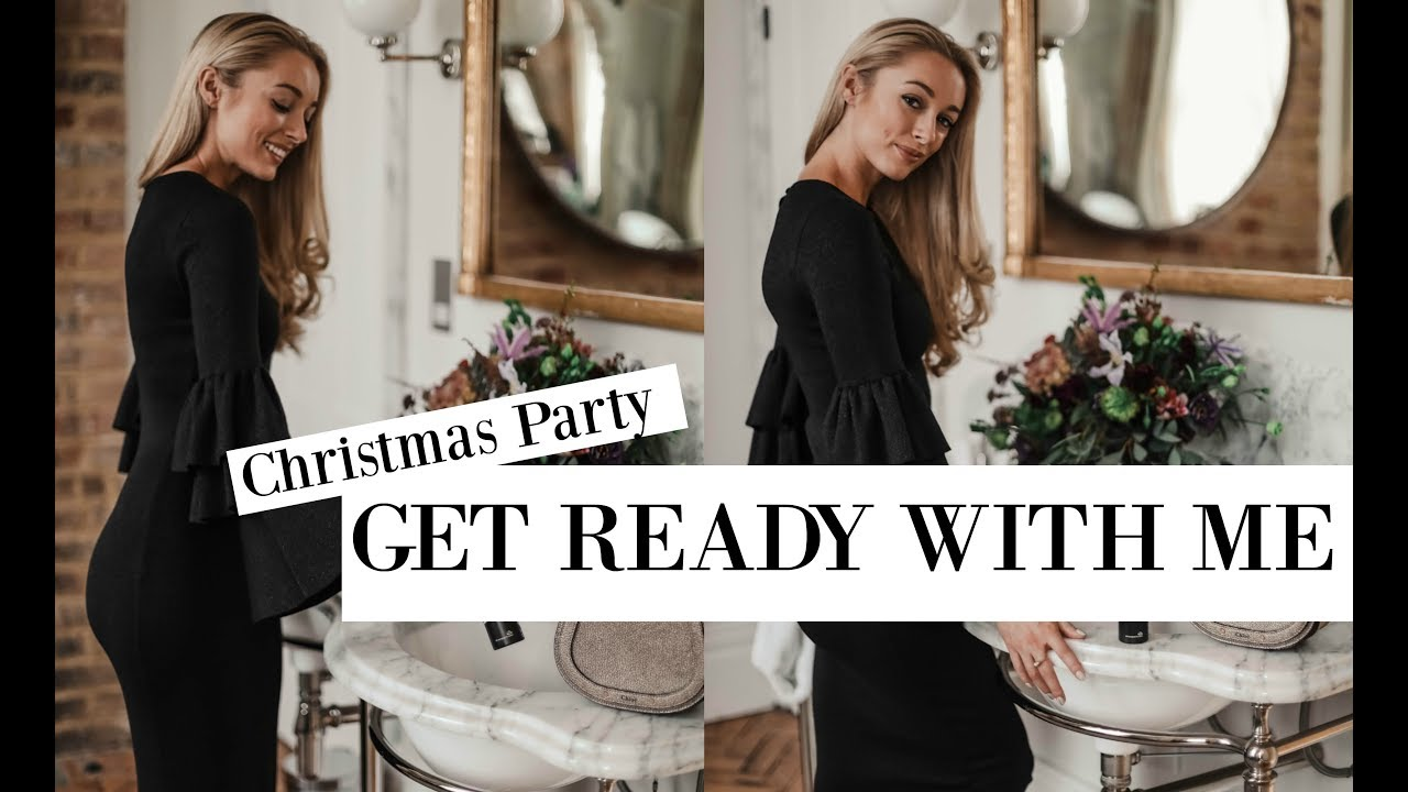 Christmas Party GRWM // My Black & White Festive Style Essentials // Fashion Mumblr AD