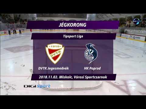 19. forduló: DVTK Jegesmedvék - HK Poprad 3-2 h.u.
