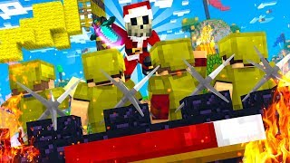 I can't believe I CLUTCHED this 1v4 in Bedwars.. (Hypixel Bedwars)