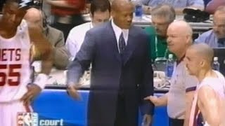 Read the article about this video on http://nba-referees-wired.com/videos/nba-referee-joey-crawford-calls-technical-foulsHear Larry Bird, Phil Jackson and Byron Scott talk to a wired NBA referee, Joey Crawford.This video show five technicals fouls for very different reason. Marc Jackson, Ron Harper and Richard Jefferson all get T'ed up.Also, listen to Reggie Miller as he helps out Marc Jackson.