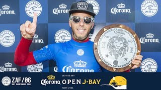 Filipe Toledo takes home the crown after a phenomenal week for professional surfing in Jeffreys Bay. Ronnie Blakey, Peter Mel...