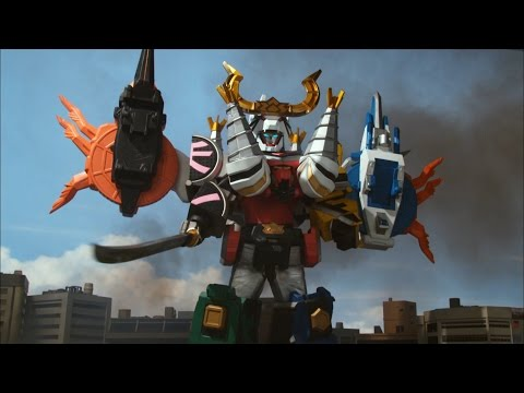 Battlewing Megazord Debut Fight (Power Rangers Samurai) | Power Rangers Official