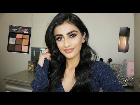 Simple Holiday Makeup Grwm| Huda Beauty Review