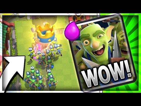 GOBLIN GANG IS HERE!! GOBLIN GANG DECK!! New Card Gameplay in Clash Royale (видео)